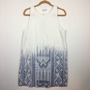Zara Blue White Sleeveless Dress